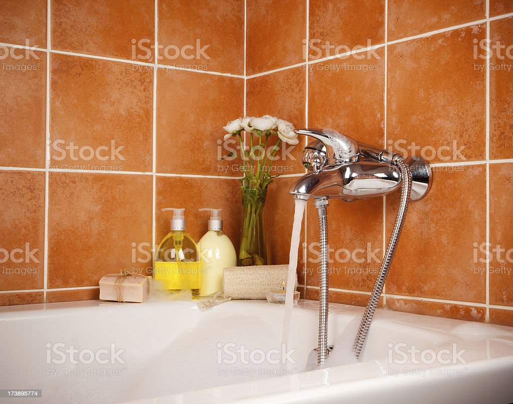 Relaxing bath royalty-free stock photo