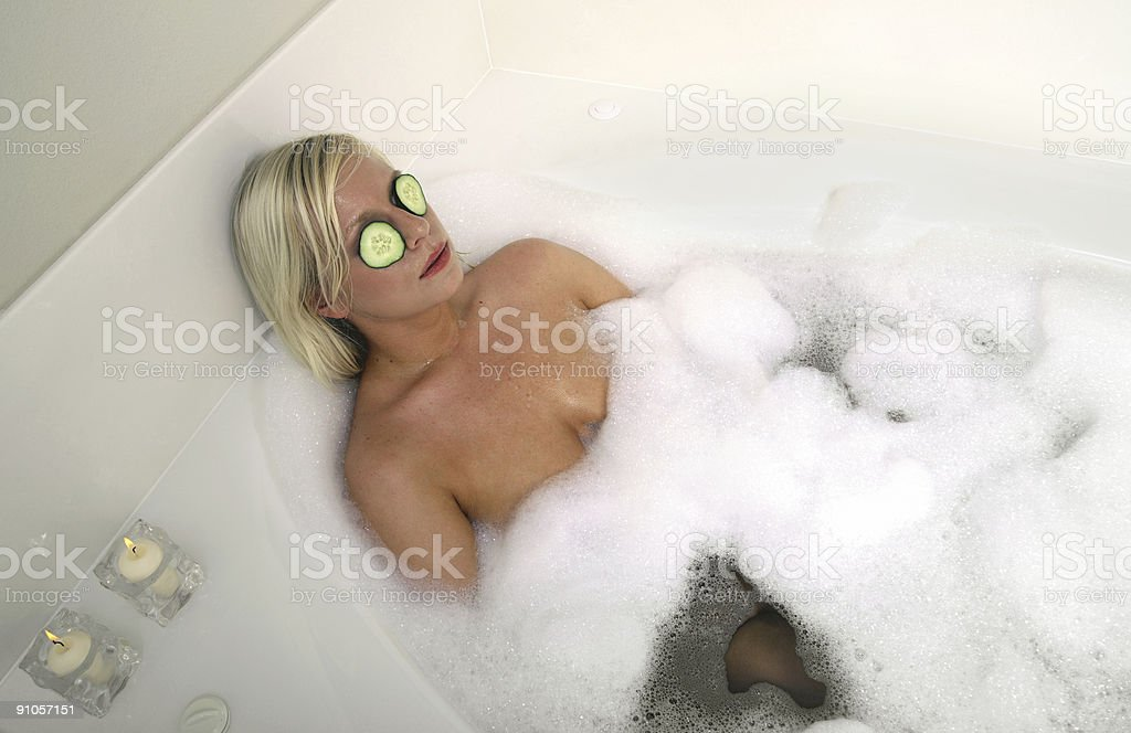 Relaxing bath. royalty-free stock photo