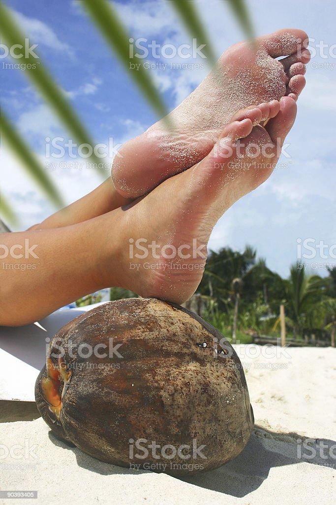 Relaxing Beach Feet royalty-free stock photo