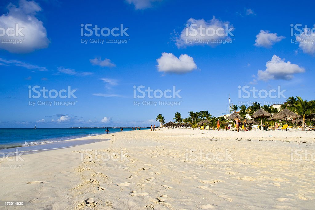Relaxing beach stock photo