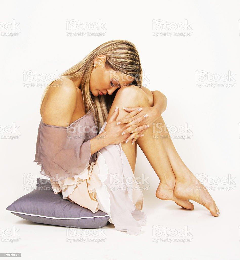 Relaxing beautiful young woman royalty-free stock photo