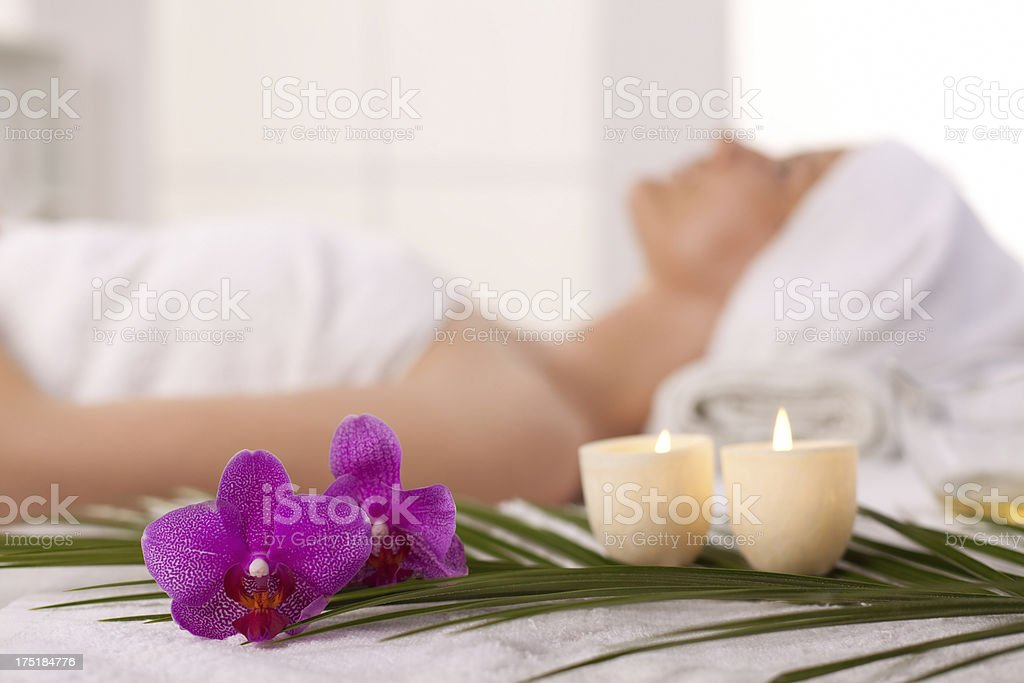 Relaxing beauty spa treatment royalty-free stock photo