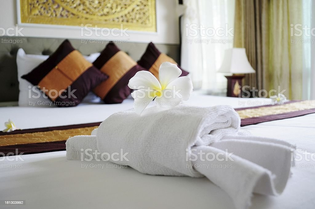 Relaxing bedroom stock photo