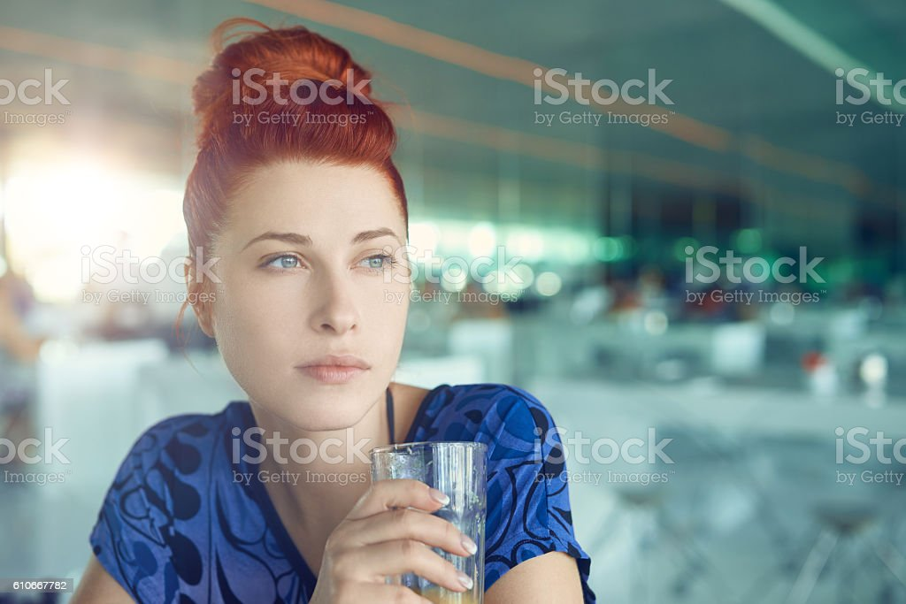 relaxing breakfast stock photo