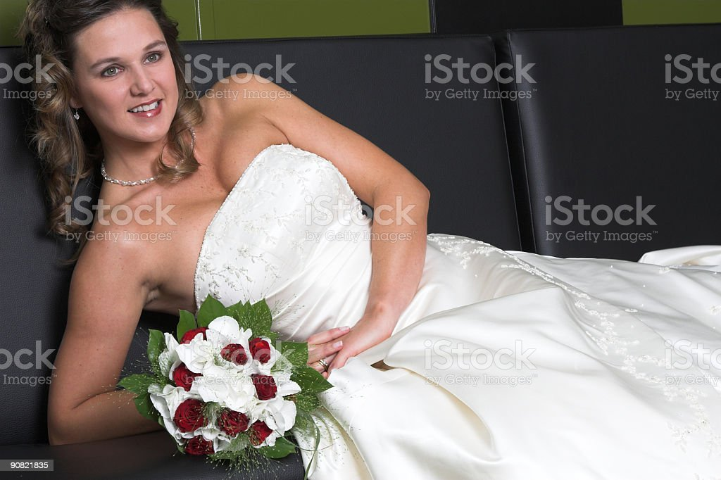 Relaxing bride royalty-free stock photo