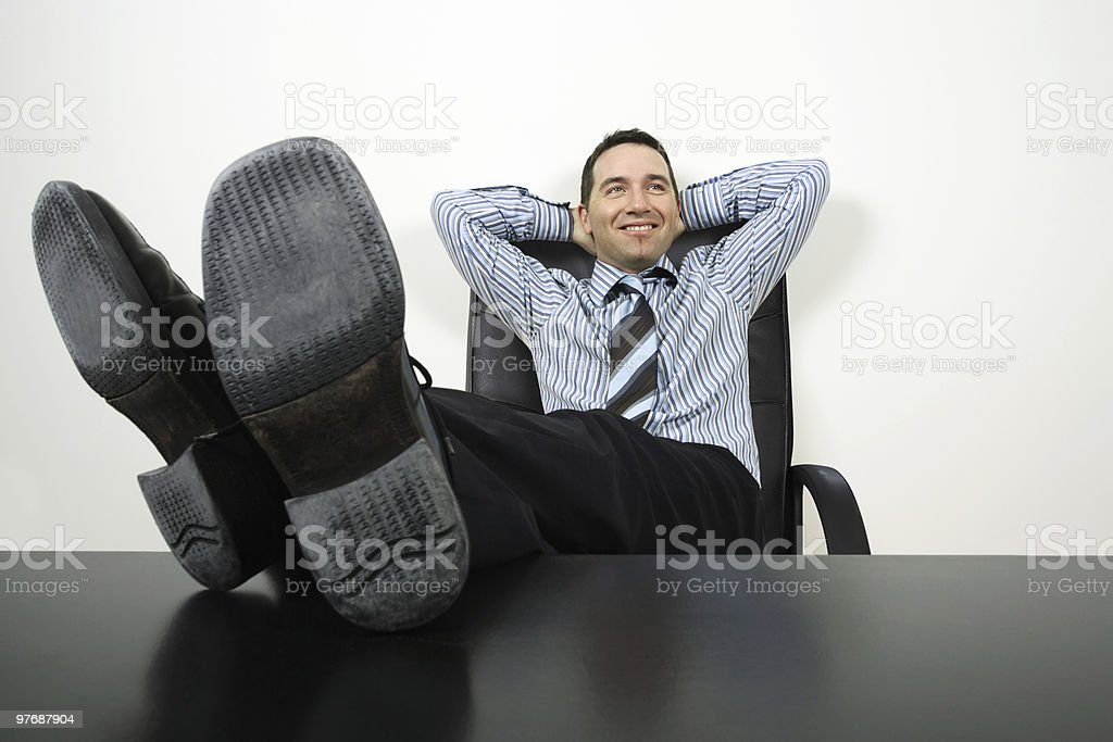Relaxing businessman royalty-free stock photo