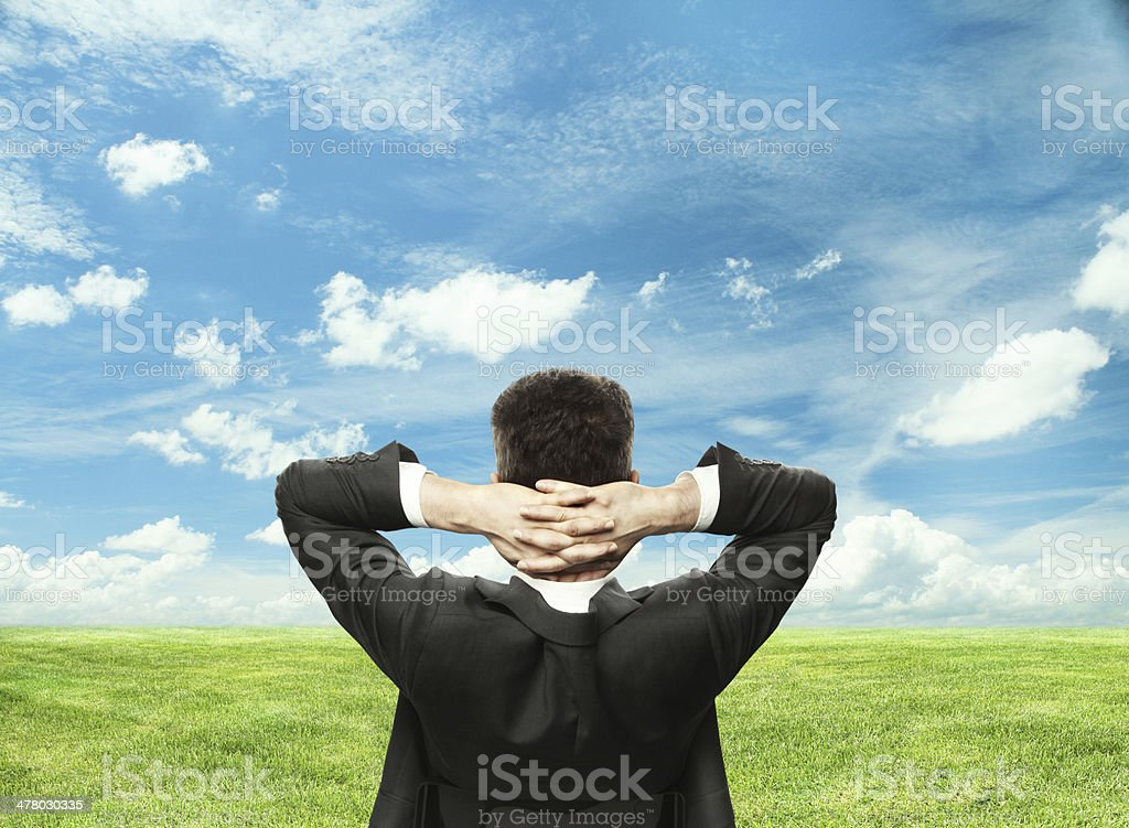 relaxing businnessman royalty-free stock photo