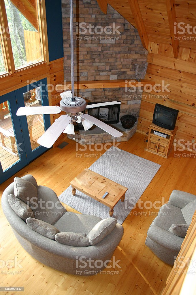 Relaxing Cabin Interior stock photo