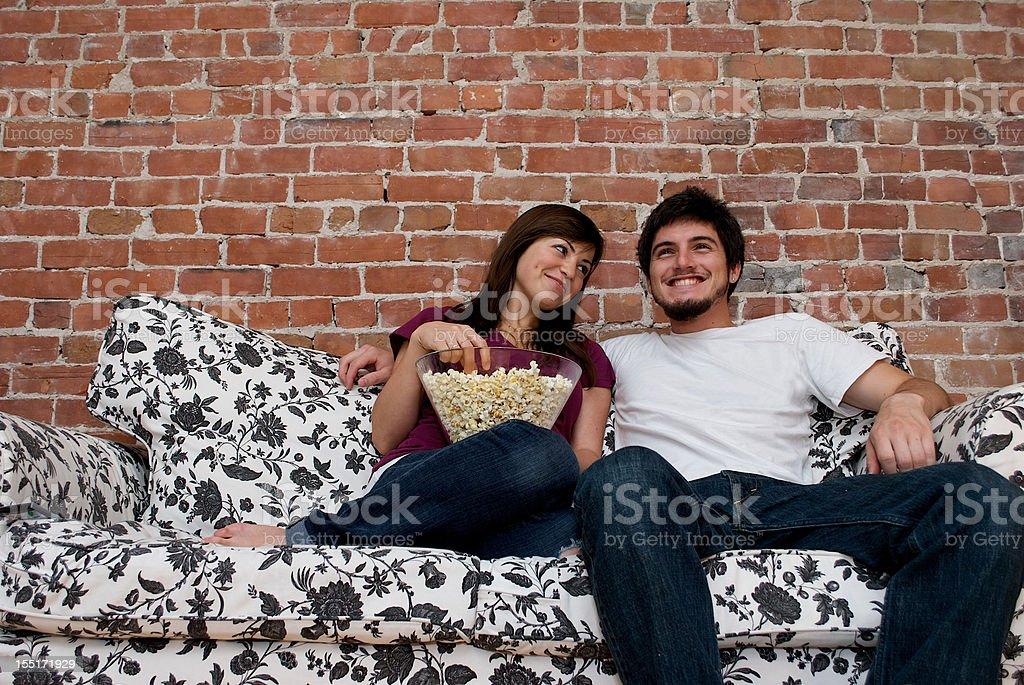 relaxing couple stock photo
