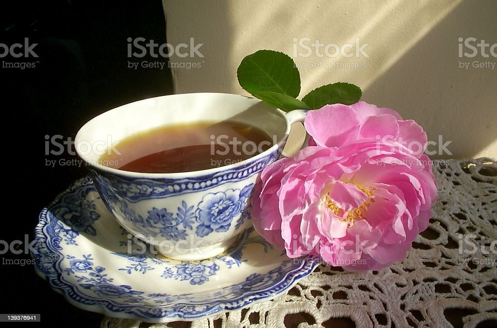 Relaxing Cup of Tea royalty-free stock photo