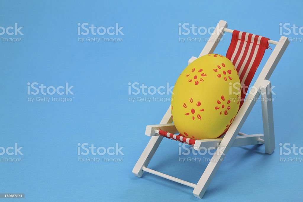 Relaxing easter egg royalty-free stock photo