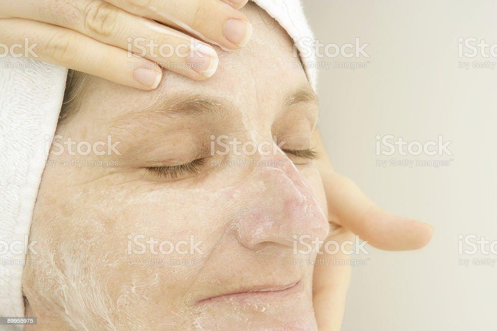 Relaxing Facial royalty-free stock photo