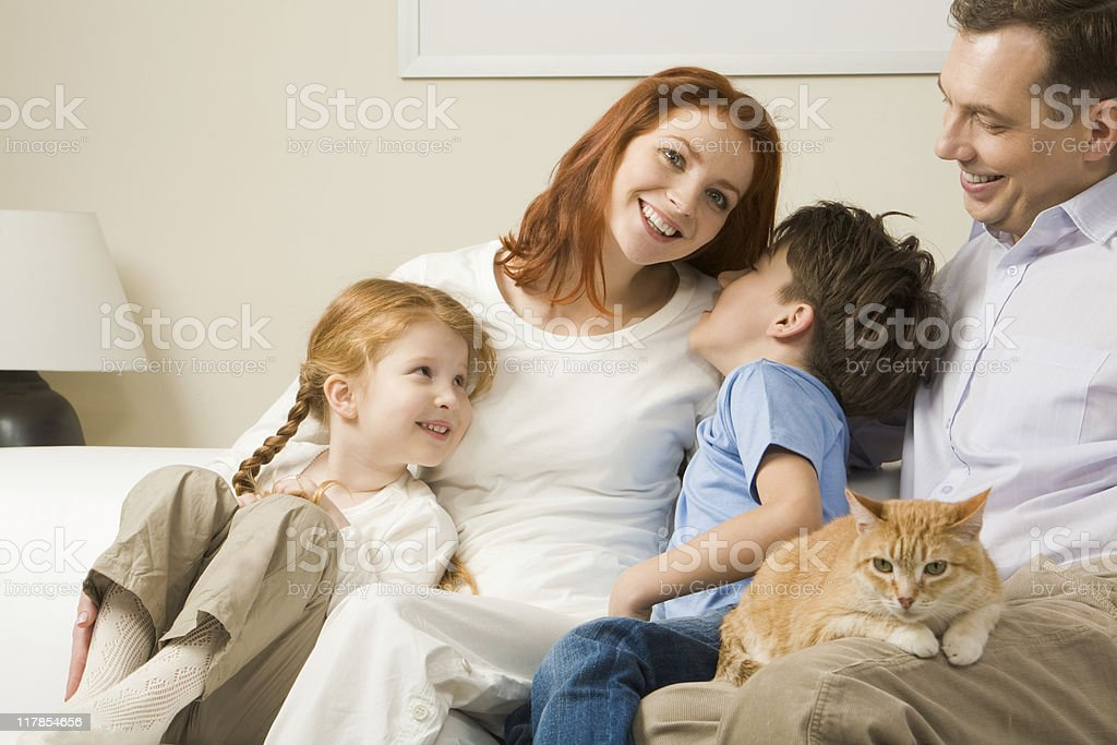 Relaxing family royalty-free stock photo