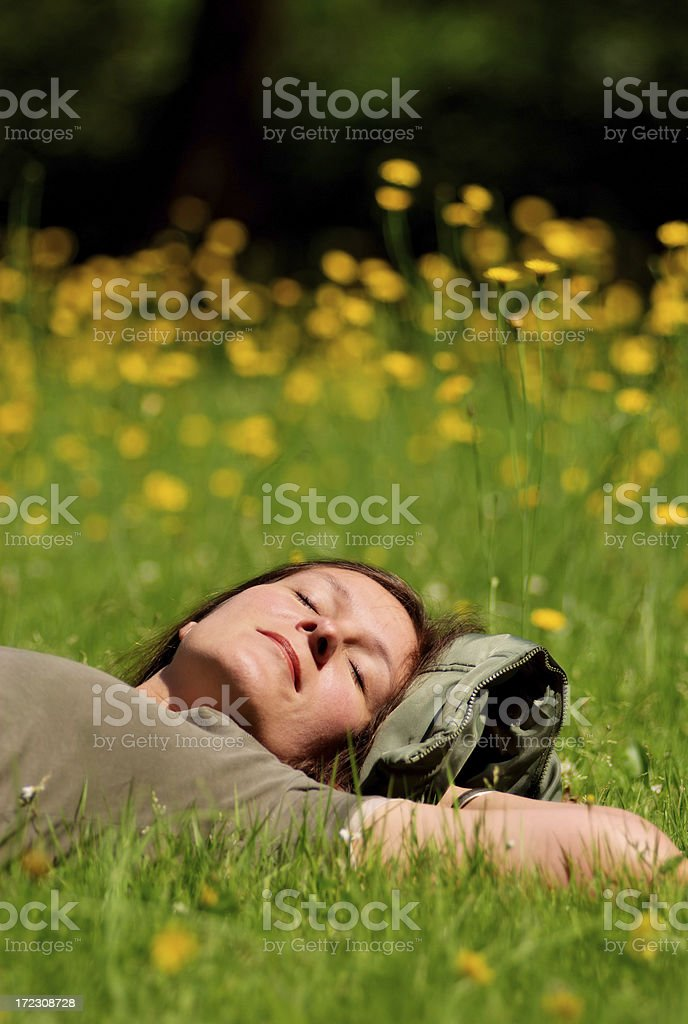 relaxing from work stock photo