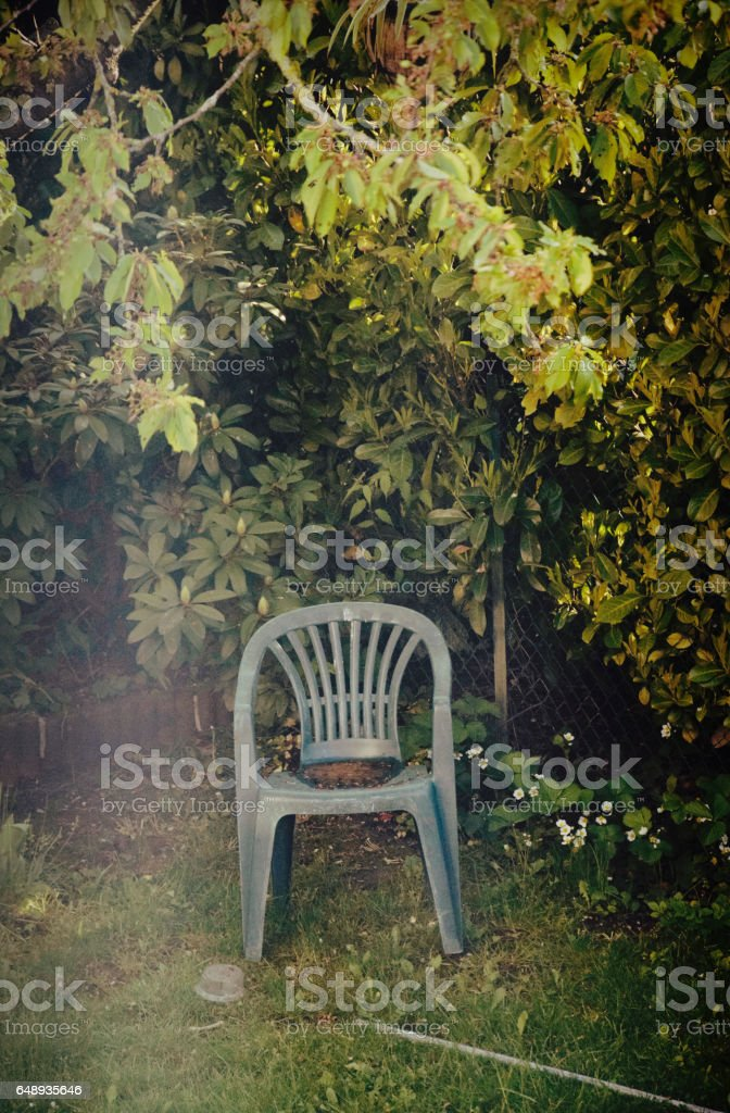 Relaxing garden corner stock photo