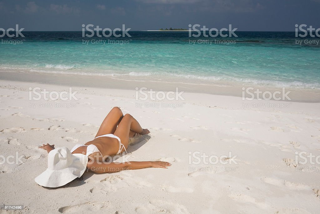 Relaxing holiday royalty-free stock photo