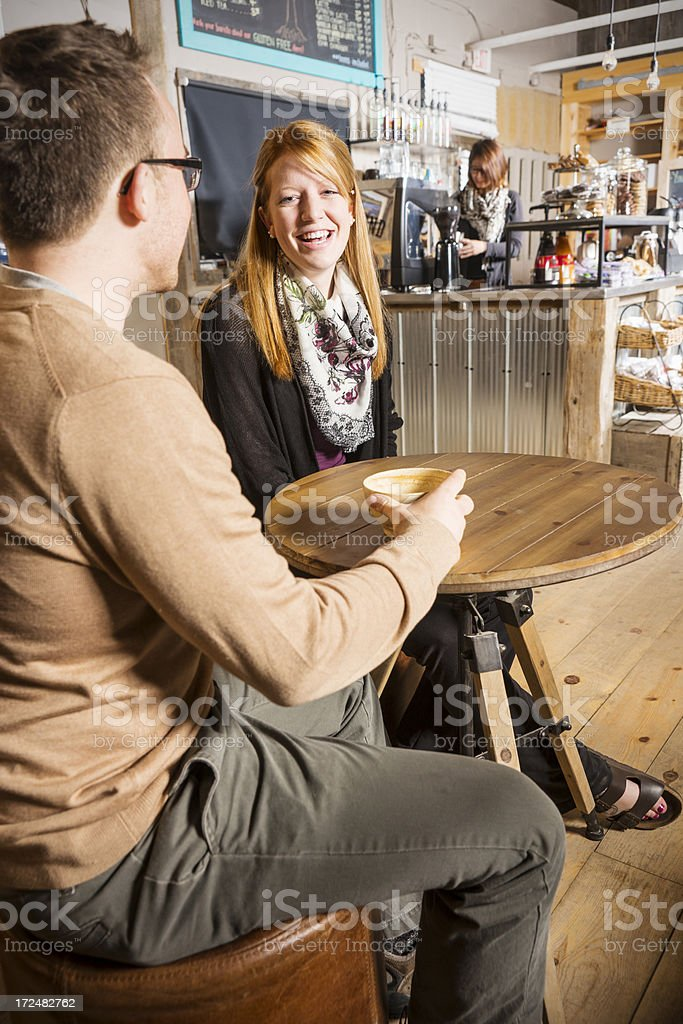 Relaxing in a cafe. royalty-free stock photo