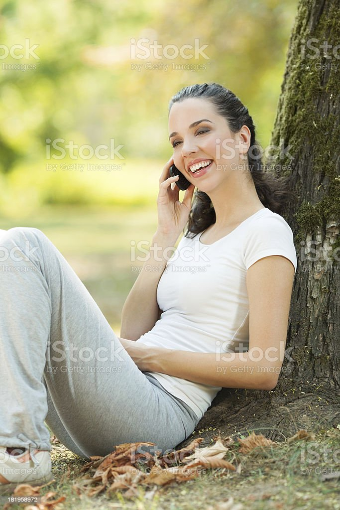Relaxing in a park royalty-free stock photo
