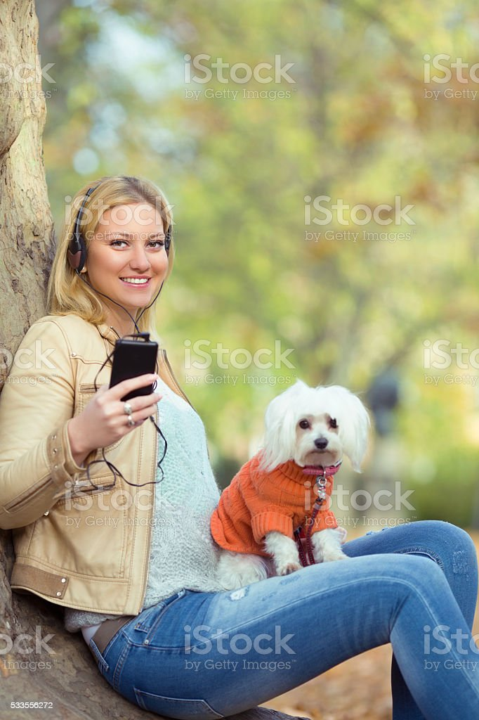 Relaxing in a Park stock photo