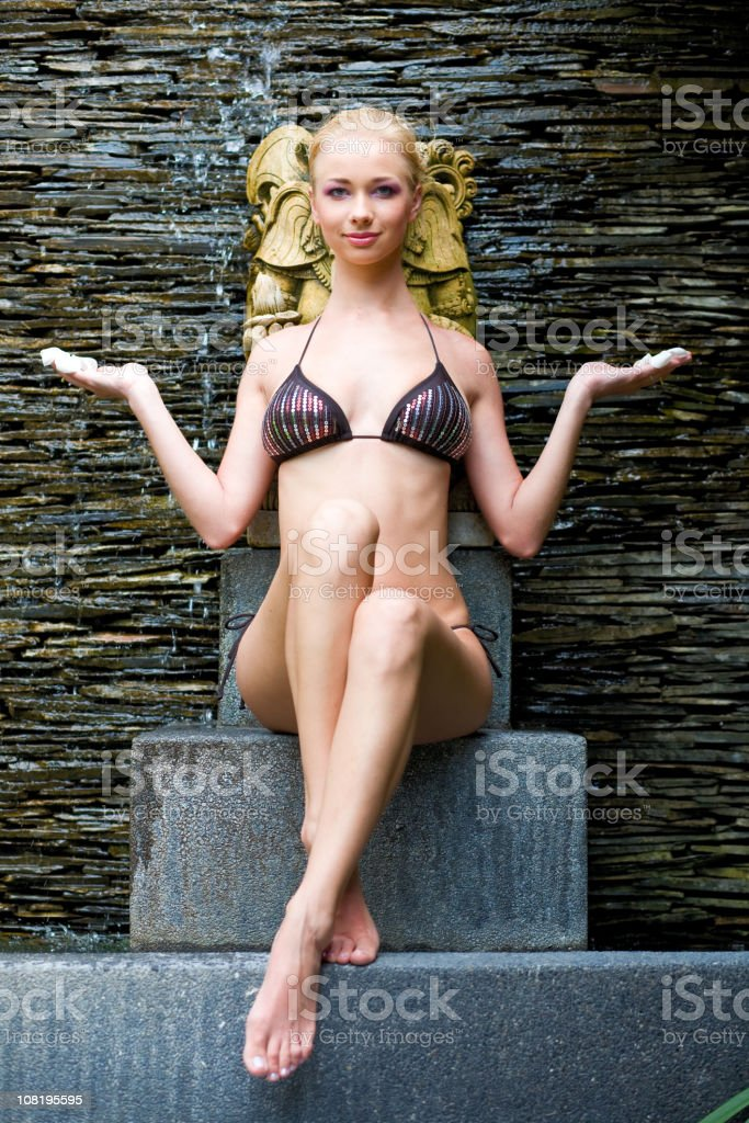 Relaxing in spa royalty-free stock photo