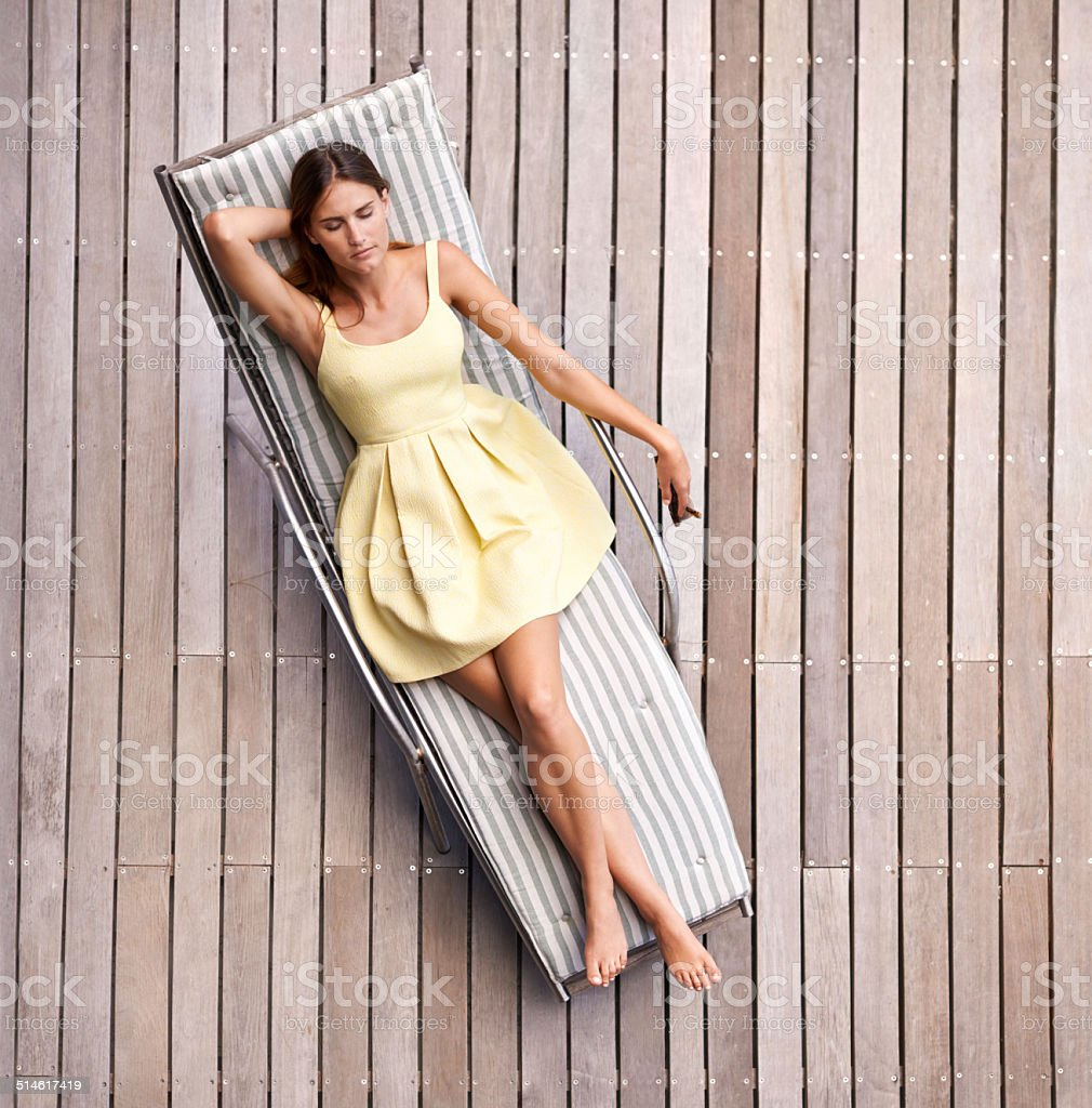 Relaxing in style stock photo