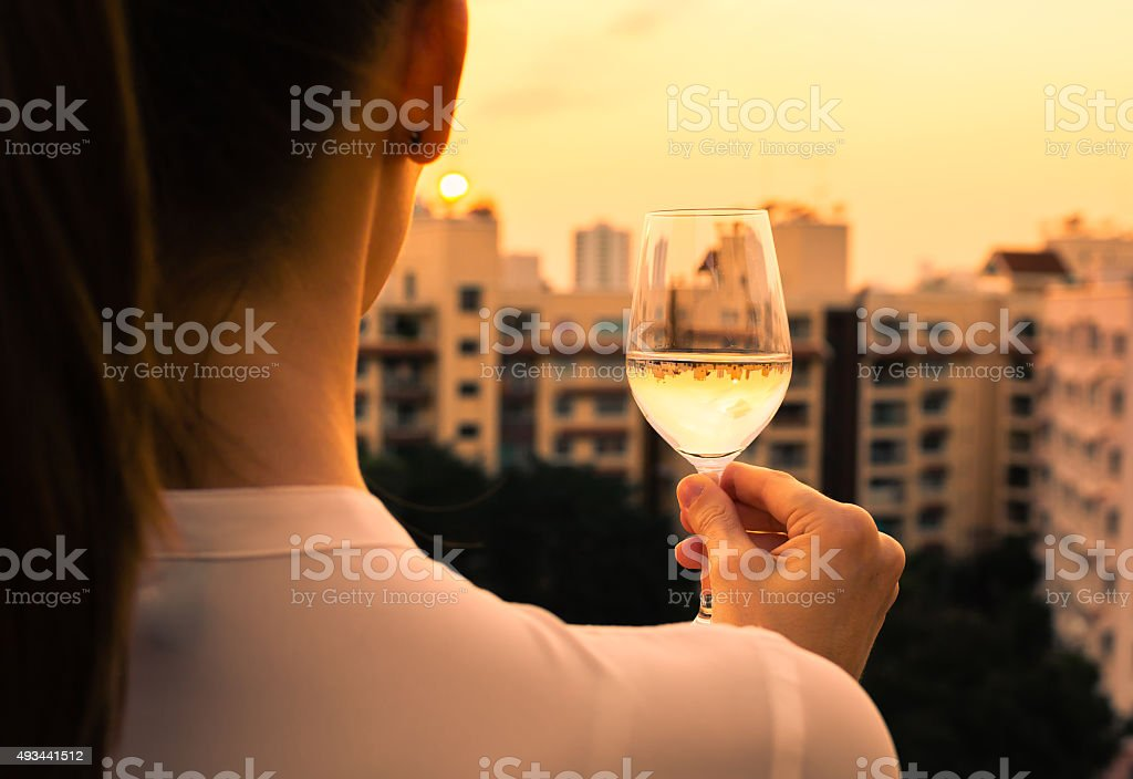 Relaxing in the city. stock photo