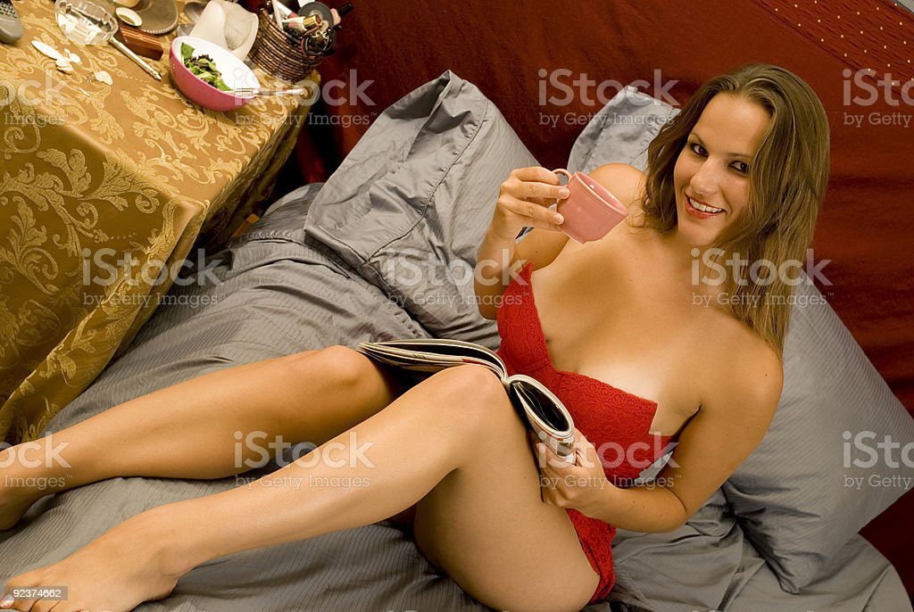 Relaxing in the Morning royalty-free stock photo