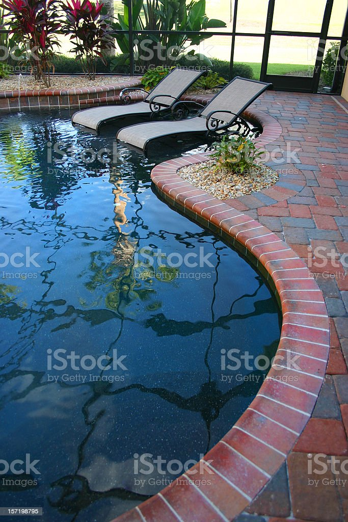 Relaxing in the Pool royalty-free stock photo