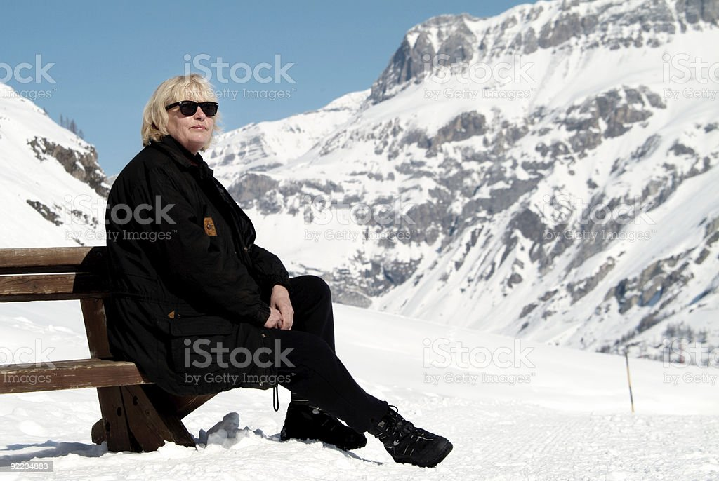 Relaxing in the Snow royalty-free stock photo