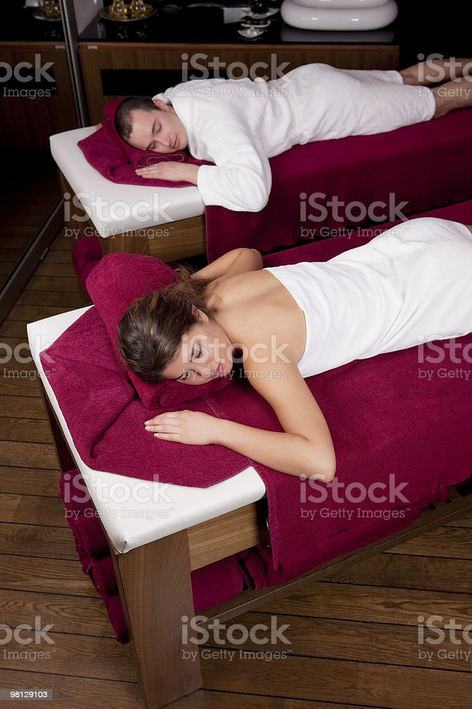 Relaxing in the Spa royalty-free stock photo