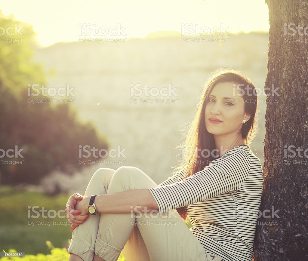 relaxing in the summer royalty-free stock photo