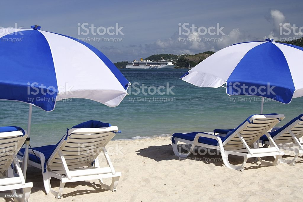 Relaxing in the sun royalty-free stock photo