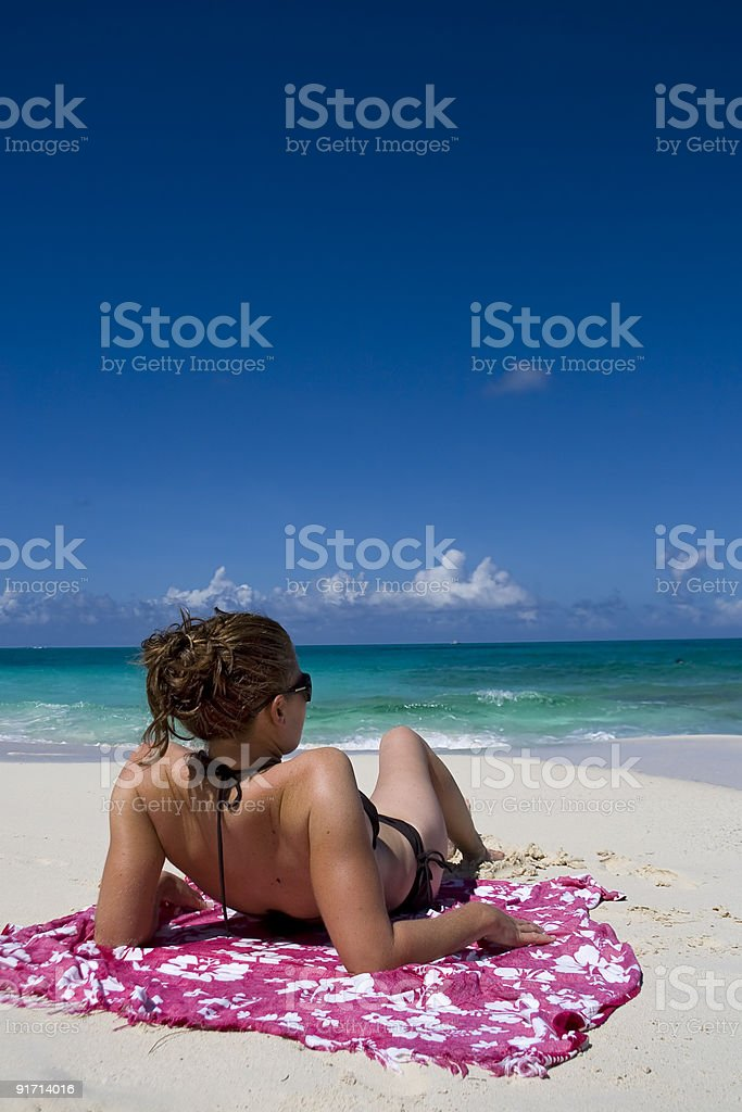 Relaxing in the tropics royalty-free stock photo
