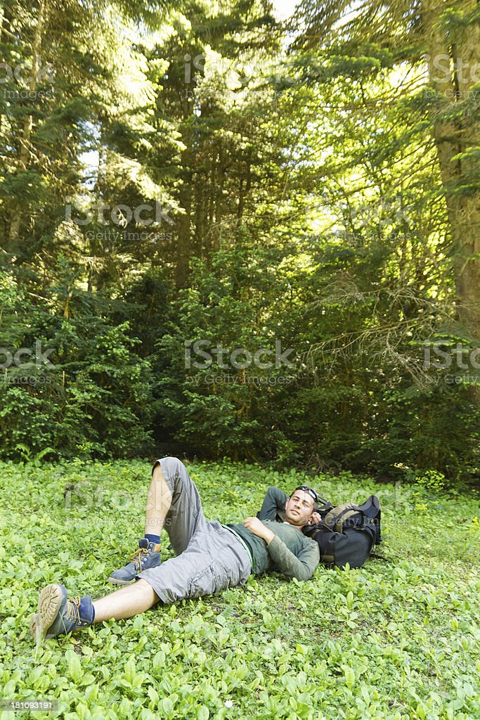 Relaxing man royalty-free stock photo
