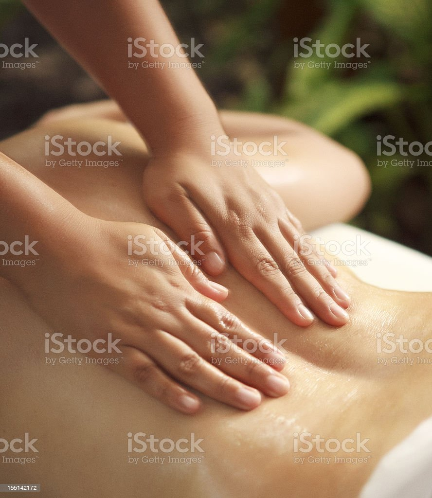 relaxing massage detail royalty-free stock photo