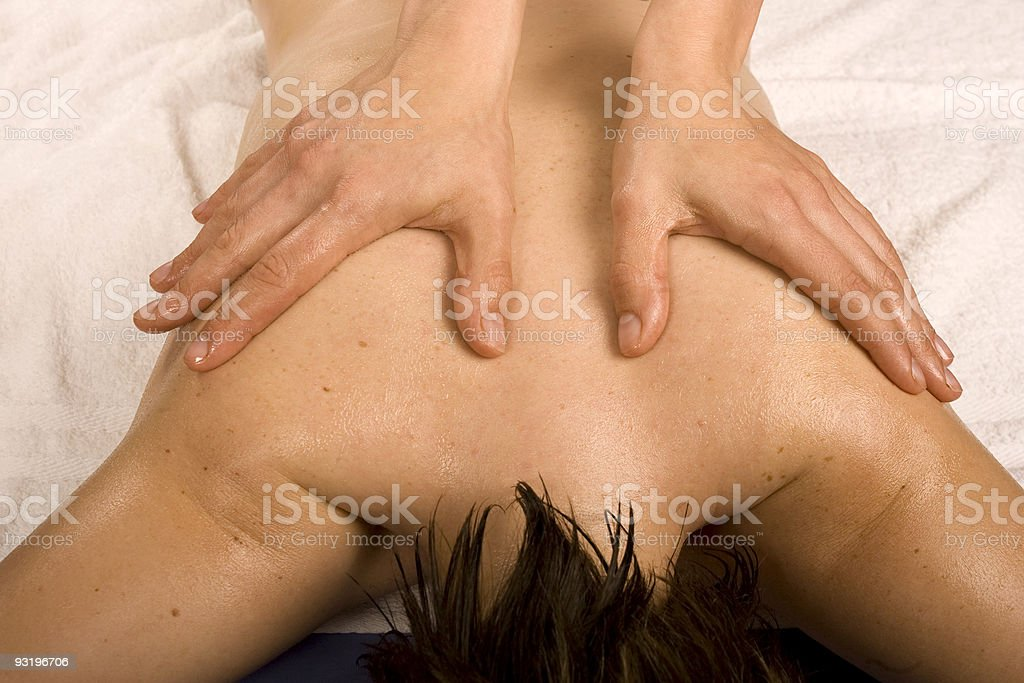 Massage relaxant ? domicile royalty-free stock photo