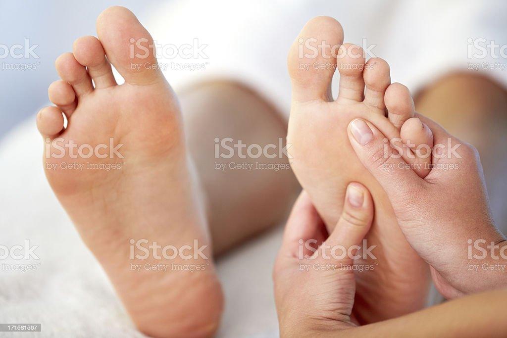 Relaxing massage stock photo