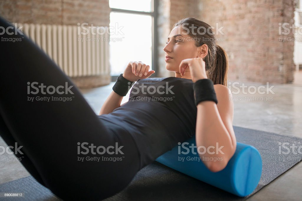 Relaxing my muscles stock photo