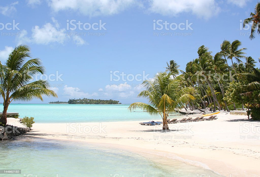 relaxing on a tropical beach royalty-free stock photo