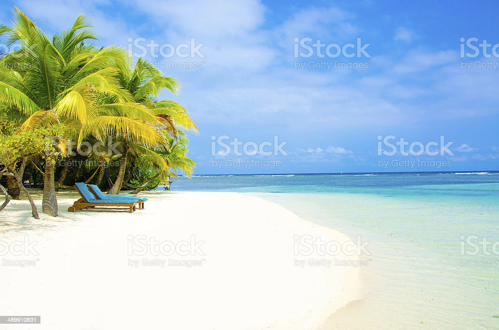 Relaxing on beautiful island stock photo