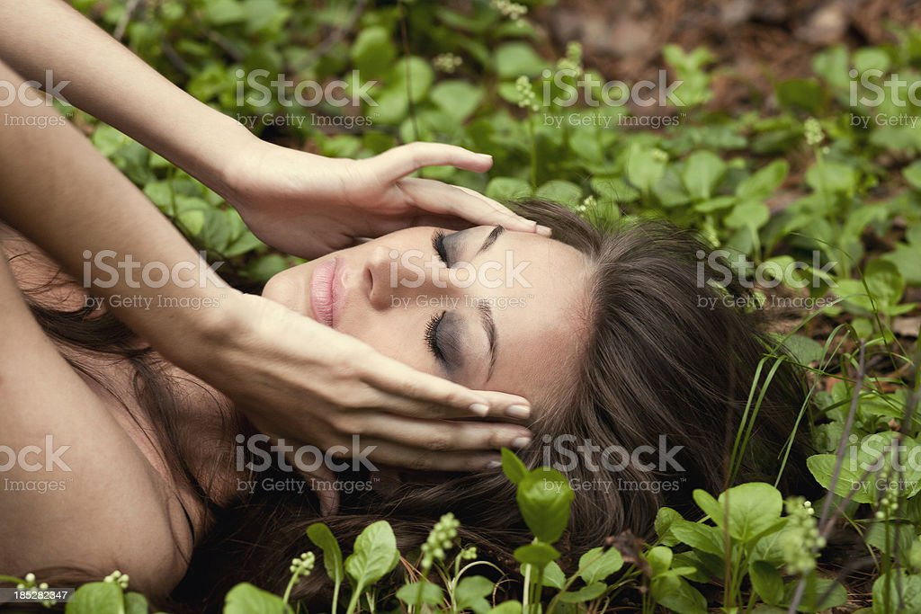 Relaxing on outdoor royalty-free stock photo