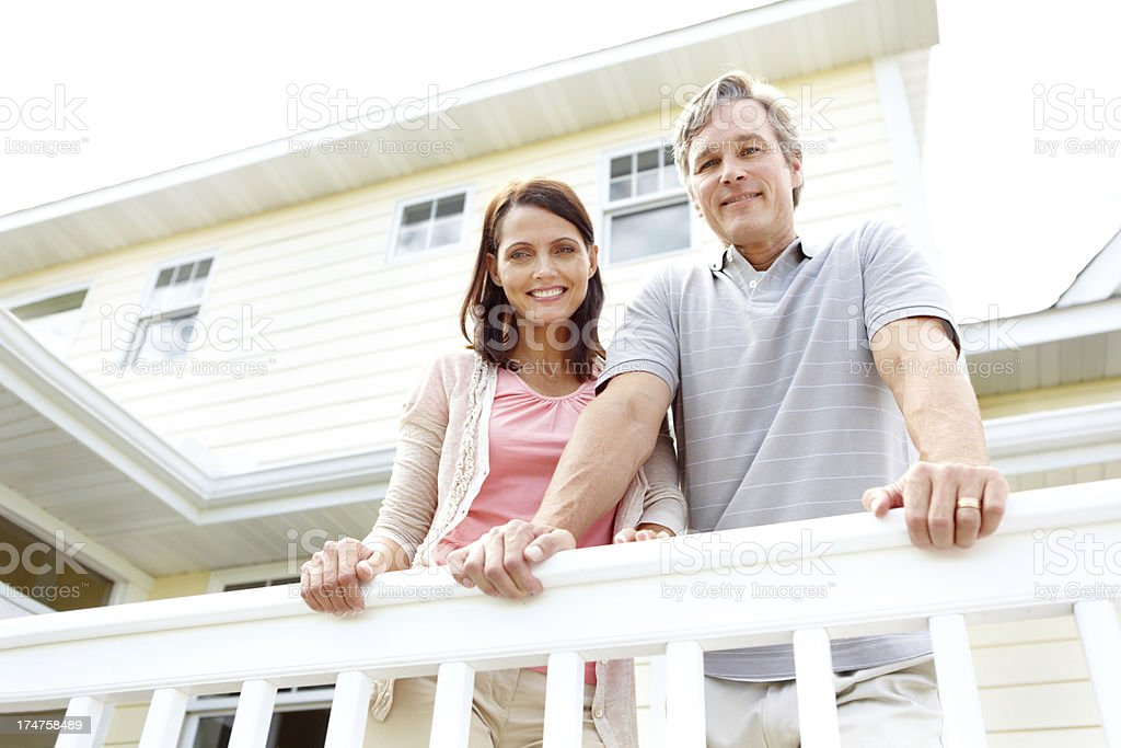 Relaxing on the balcony together royalty-free stock photo