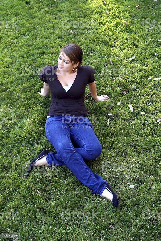 Relaxing on the Lawn stock photo