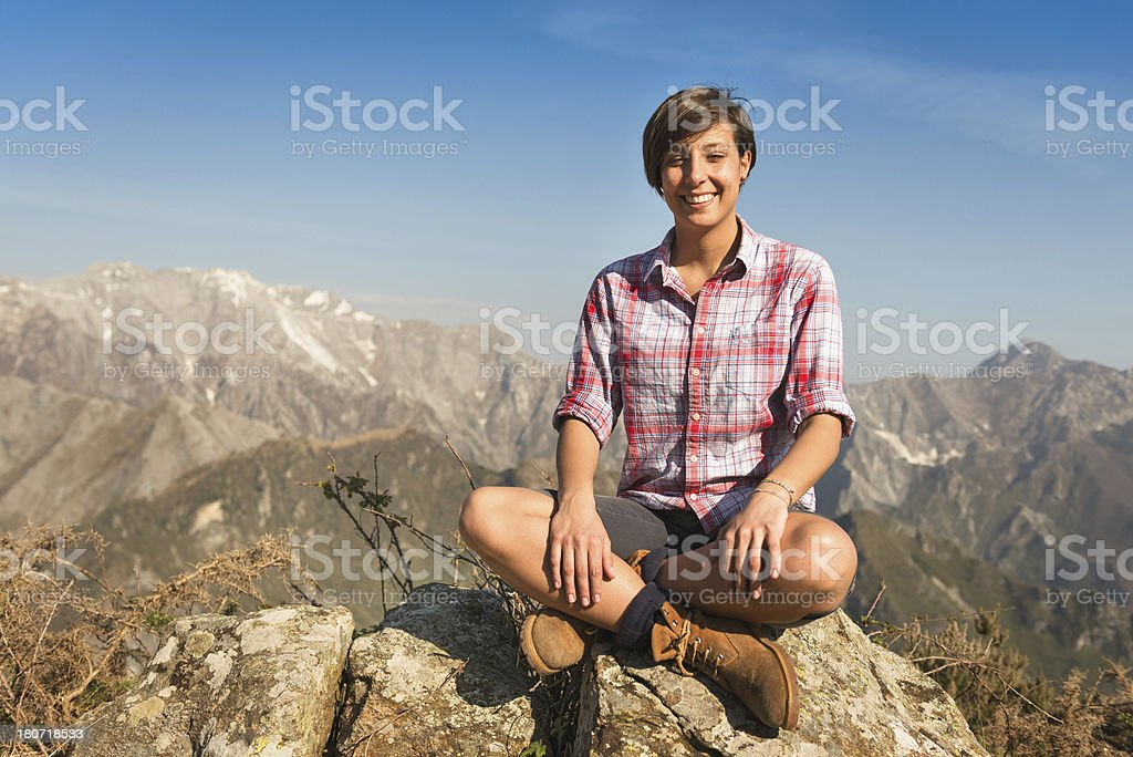 Relaxing on the mountain royalty-free stock photo