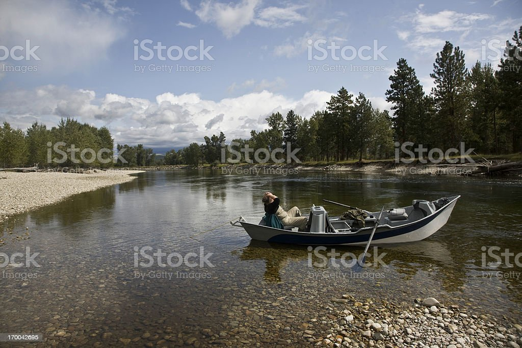 Relaxing on the River royalty-free stock photo