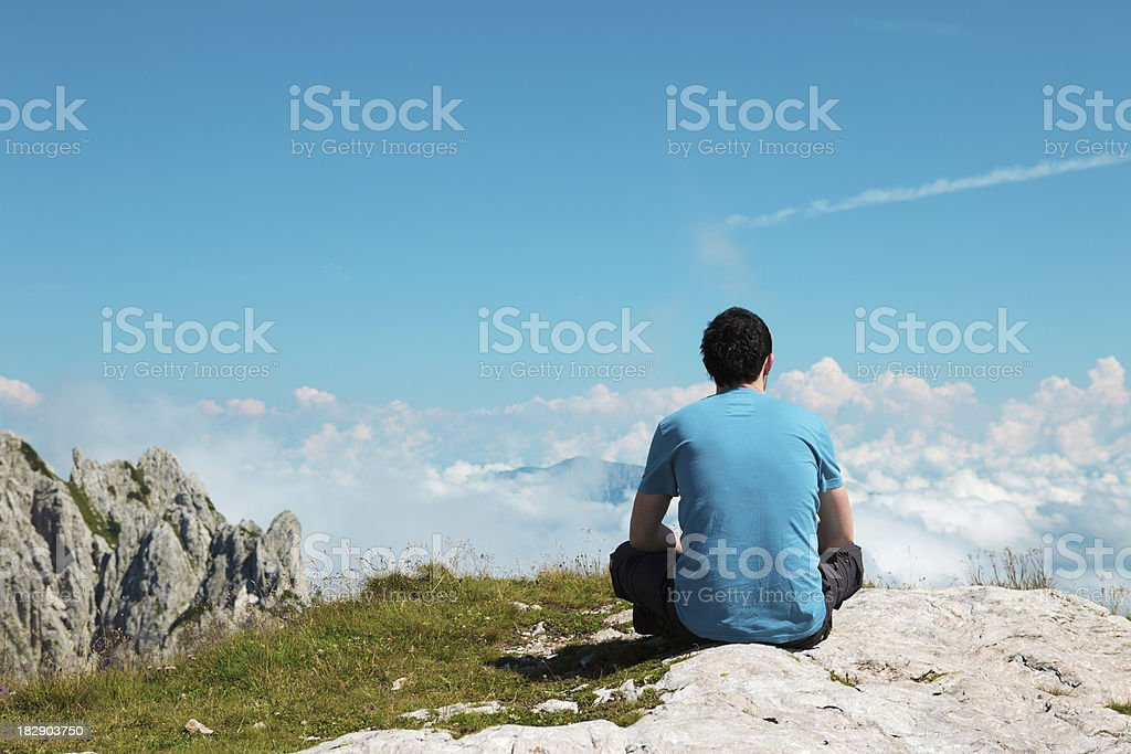 Relaxing On Top Of The Mountain royalty-free stock photo