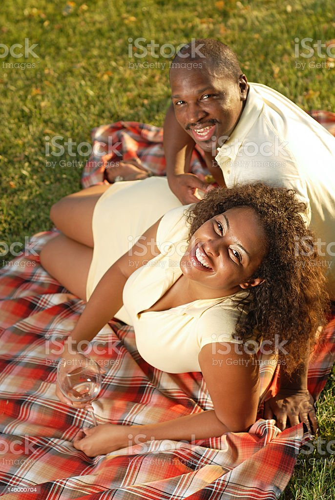 Relaxing outside royalty-free stock photo