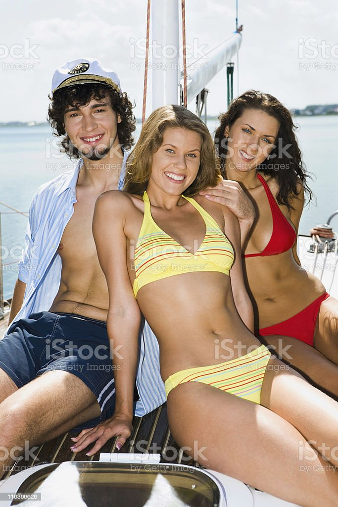 Relaxing people royalty-free stock photo