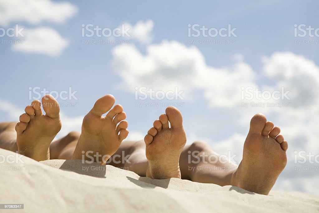 Relaxing royalty-free stock photo