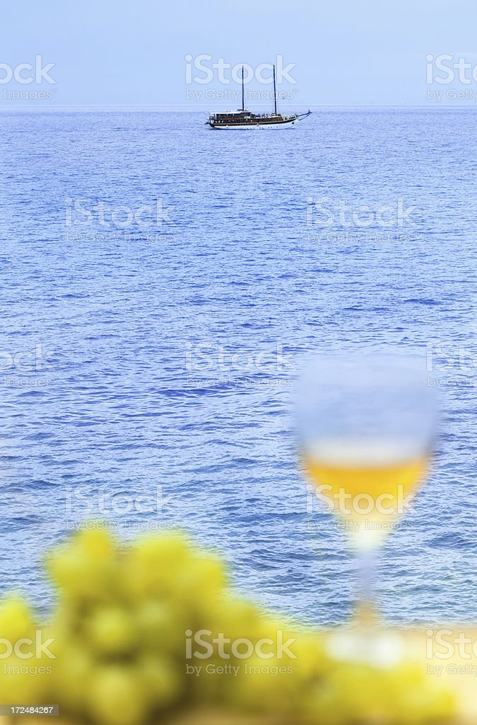 Relaxing sea view royalty-free stock photo